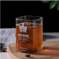 方形玻璃杯矮款皇冠(50个/箱)无售后
