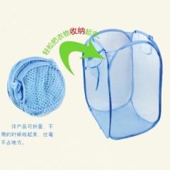 彩网脏衣篮脏衣篓粗网(颜色随机发)180/1箱 随机 颜色随机 50*32CM