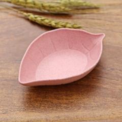 小麦秸秆树叶小碟子  日式餐具调料碟800/箱 粉色 11*7*2.5