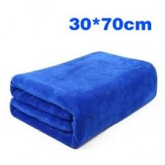超细纤维纳米洗车毛巾/擦车巾   1500PCS 宝蓝色 30*70cm