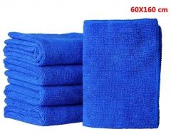 超细纤维纳米洗车毛巾/擦车巾 60*160 (10条/包 600条/麻袋 宝蓝色 60*160CM