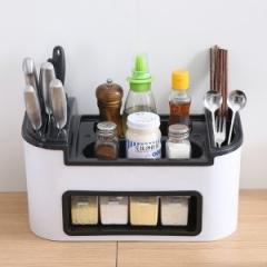 厨房置物架调味盒收纳架  1个/箱 白色 见详情