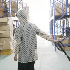 厨房围裙罩衣女款(100个/箱)个 白点 均码