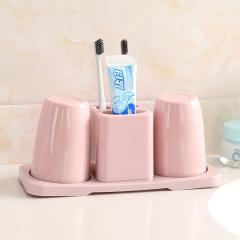 双杯牙刷架套装72/箱 北欧粉 26.5*10*12cm