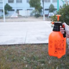 2L手持气压式园艺花洒喷壶 橙色 33*12.5cm