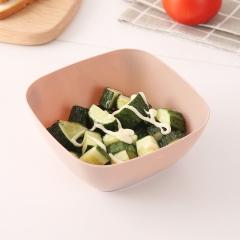 北欧色方形沙拉碗(300个/箱)个 北欧粉 14.5*9*6cm