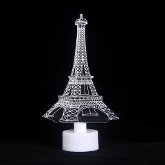 3D亚克力小夜灯 铁塔 见详情
