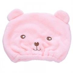 小熊干发帽(400个/箱)个 粉色 见详情