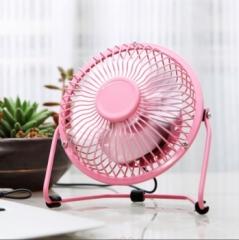 盛夏专属  6寸铁艺风扇 360°旋转迷你风扇 粉色 见详情