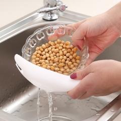 家用不伤手洗米勺沥水器  350/箱 白色 详情