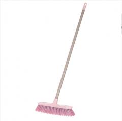 KX-759长柄硬毛地板上塑料洗地刷 粉色 如图