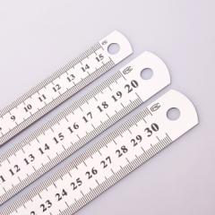 加厚优质不锈钢双面直尺 (20个/盒) 不锈钢 30cm