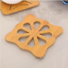 木质卡通家用隔热杯垫厨房防烫杯垫 300/箱 方梅花 木质
