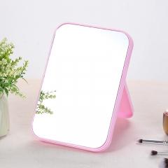 自营专属  糖果色可折叠台式化妆镜 (120个/箱) 粉色 20*14*1.1cm
