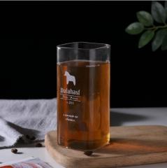 耐热方形玻璃杯 高款 13.5*6cm 高款小马 13.5*6cm