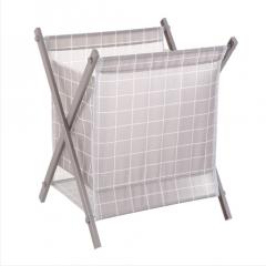 立式折叠脏衣篮(48盒/箱)盒 灰格子 见详情