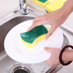 双面百洁布海绵擦厨房去污洗碗清洁刷 腰形 见详情