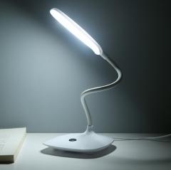 USB转换电源直充小台灯 LED桌面台灯 白色 9.8*11.8cm