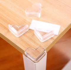 爱心桌角保护套防撞垫 透明 100/小包 2000/箱 粘纸另配 透明 5x4x2cm