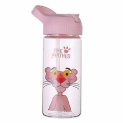 粉红豹吸管手提玻璃杯学生杯50/箱