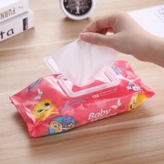 卡通兔子湿纸巾 家用带盖湿巾 24/箱 红色 150x200mm/张