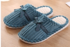 韩版灯芯绒地板拖 棉拖鞋- 100/箱 绿色 36-37