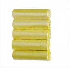 彩色5连卷100只装平口点断式垃圾袋 混色 11*2.5cm