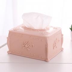 欧式时尚雕花客厅抽纸盒 纸巾抽-60/件 北欧粉色 9.5*17*12.5cm