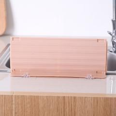 水槽伸缩挡水板 粉色 长28~49.8cm*4.5cm*11