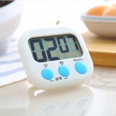 烘焙定时器厨房闹钟电子提醒器 白色 8.5*8cm