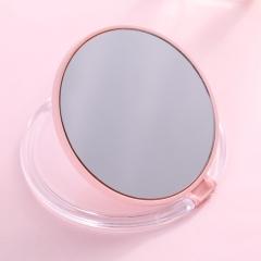 圆形迷你便携式化妆镜 北欧粉 直径9.5cm