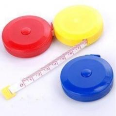 圆形迷你瘦身卷尺1.5米600/箱 颜色随机 外壳5*5*1cm,最大可测量1.5m