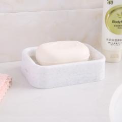 清新色系加丝网格沥水皂盒 加丝白色 12.5*9*3.5cm