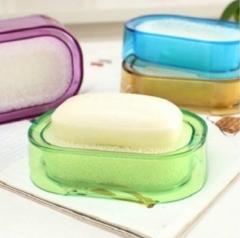 多功能有氧彩色海绵肥皂盒/皂盘 200/箱 蓝色 13.5*10.5*3.5cm