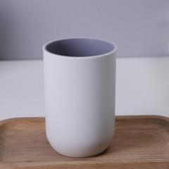 简约时尚双色漱口杯   240/箱 灰白 如详情所示