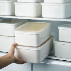 1.2L厨房冰箱收纳盒储物盒108/箱 白色 方形