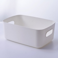 纯色双耳收纳框(30个/箱) 白色 见详情