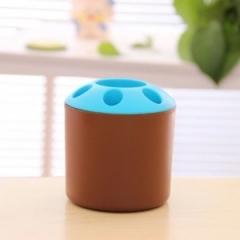 大号糖果色便携式牙刷架 笔筒架240/箱 咖啡色 9*10.3cm