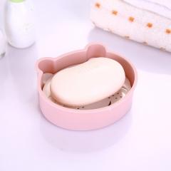 卡通猴子双层沥水皂盒 300/箱 粉色 如详情所示