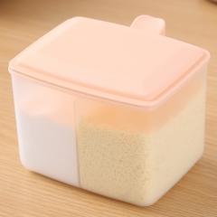 双格调味盒  100/箱 粉色 见详情