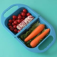 可折叠家用洗菜篮  40/箱 蓝色 见详情