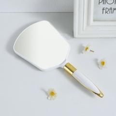 麦秆手柄化妆镜方镜  (144个/箱)个 白色 见详情