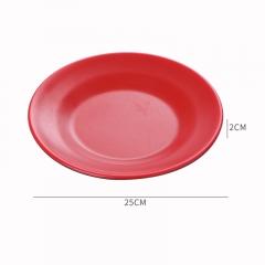 红黑密胺碗 直径25cm高2cm 碟 见详情