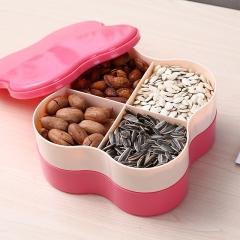 拼色双层果盘 瓜子盒   (36个/箱)个 红夹米 见详情