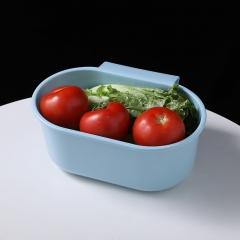 椭圆可挂式水槽沥水篮   150个/箱 蓝色 见详情