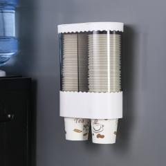一次性水杯置物架 取杯器  (24个/箱)个 双筒白色 见详情