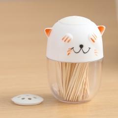 小猫型牙签罐调味罐   200个/箱 白色 见详情
