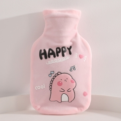 卡通布套热水袋  恐龙 粉色 见详情