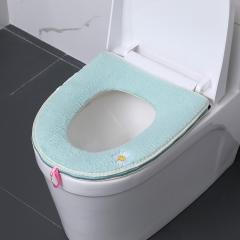 马桶垫小雏菊绣花马桶圈拉链   180个/箱 蓝色 见详情