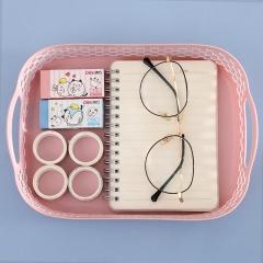 桌面收纳篮托盘方形  (300个/箱)个 粉色 见详情